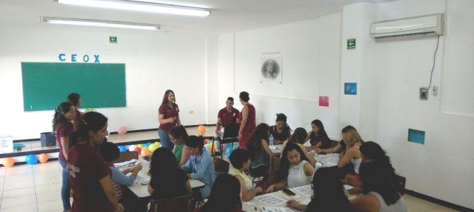 Imparten estudiantes de posgrado taller sobre material didáctico